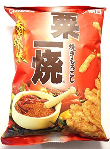 Calbee Grill-a-Corn Chips - Hot and Spicy Flavored (Pack of 4) by Calbee