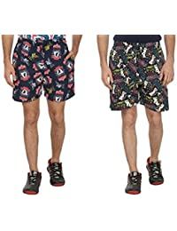 Bfly Combo Of Printed Men's Cotton Shorts - B01IN1KU9I