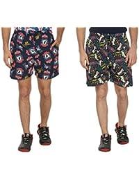 Bfly Combo Of Printed Men's Cotton Shorts - B01IN1KU9I
