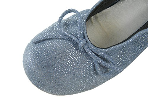 Clic! , Ballerines pour fille Jeans-Glitzer (Martin Jeans)