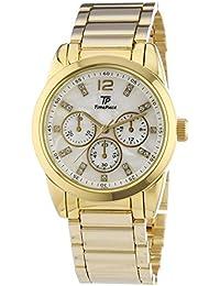 TP Time Piece Young Fashion - Reloj de cuarzo para mujer, correa de acero inoxidable color dorado