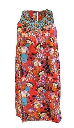 Surkana Robe Femme - rouge (XL)