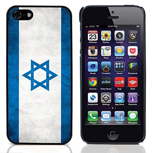 Graphic4You Vintage Uralt Flagge Von Kosovo Design Harte Hülle Case Tasche Schutzhülle für Apple iPhone 5 und 5S Israel Israelisch