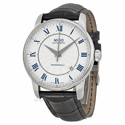 Mido Mido Baroncelli White Zifferblatt Schwarz Leder Mens Watch M86004214