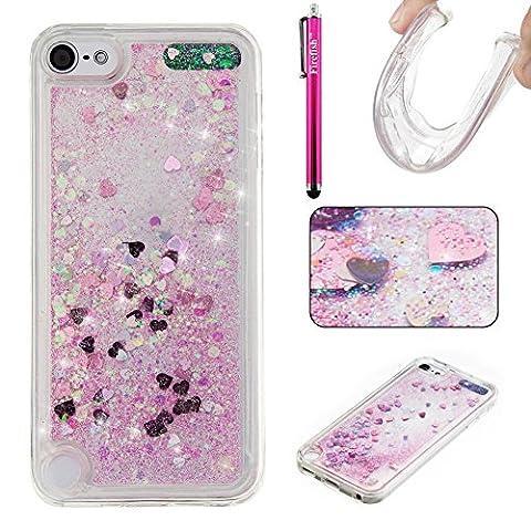 Coque iPod Touch 6, Glitter Liquide TPU Etui, Firefish Ultra
