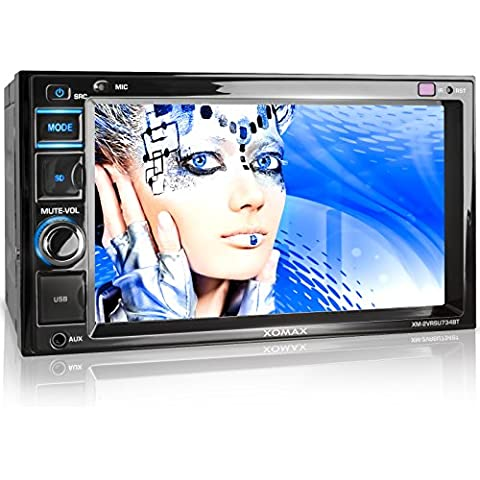XOMAX XM-2VRSU734BT Autoradio / Moniceiver con Bluetooth + 6,2