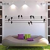 Olydmsky Wandtatoos Wohnzimmer,Vogel-Personal Cartoon Animal Musik Aufkleber abnehmbar grüne Wand Aufkleber 115x30cm