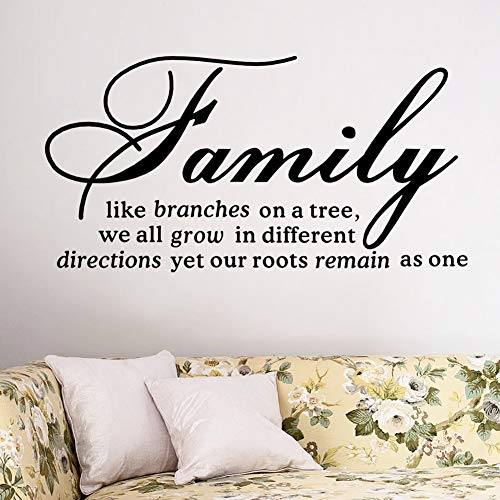 XCGZ Stickers muraux Famille comme Direction Wall Decal Amovible Sticker Mural Citations Mural Art Home Decor Salon Chambre Décoration