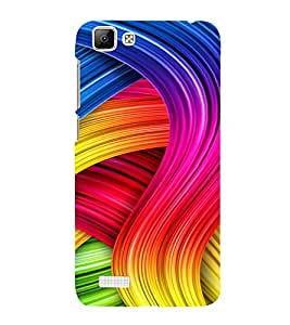 PrintVisa Modern Art Pattern 3D Hard Polycarbonate Designer Back Case Cover for Vivo V1