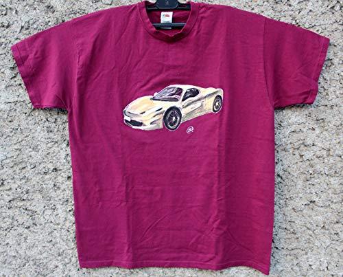 Handbemalte Gold Ferrari 458 Spinne, Herren Autohemd, Limitierte Auflage, Superauto, Autokunst, Sonderausgabe, Hemd, Geschenk für Freund, Ehemann, Vater, Vater, Größe XL personalisieren.