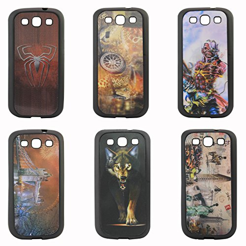 DMG 3D TPU Back Cover Case with Cool 3D Graphics for Samsung Galaxy S3 Neo GT-i9300I / S3 i9300 (Pack of 2)