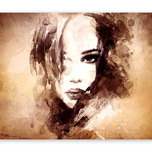murando - Papier peint intissé 150x105 cm - Papier peint - Tableaux muraux déco XXL - Portrait Visage h-B-0020-a-d
