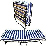 Baldiflex Dali - Cama plegable con colchón de poliuretano expandido Waterfoam ortopédico...