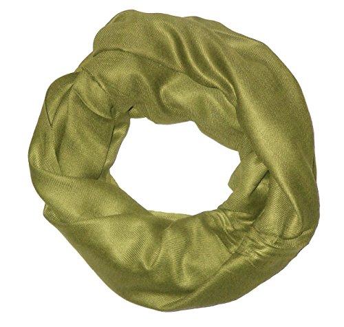 Sciarpa tubo, snood, foulard, pashmina chiuso, da donna, alla moda bronzo Taglia unica