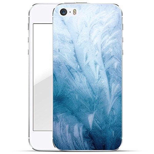 finoo | iPhone 6 Plus / 6S Plus Hard Case Handy-Hülle mit Motiv | dünne stoßfeste Schutz-Cover Tasche in Premium Qualität | Premium Case für Dein Smartphone| Weißer Marmor Frost Textur