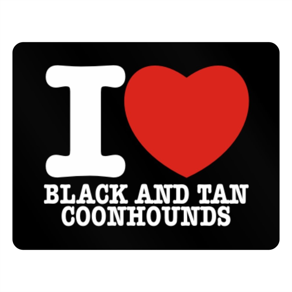 Teeburon I love Black and Tan Coonhounds Horizontal Sign