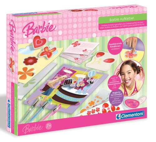 Clementoni 5695997 - Barbie Aufkleber Set