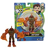 Giochi Preziosi- Ben 10 Hot Shot Personaggio Base, Multicolore, 13 cm, BEN39100