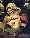 The Virgin with the Green Cushion, Andrea Solario