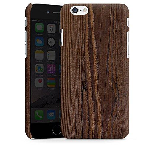 Apple iPhone X Silikon Hülle Case Schutzhülle Holz Look Maserung Premium Case matt