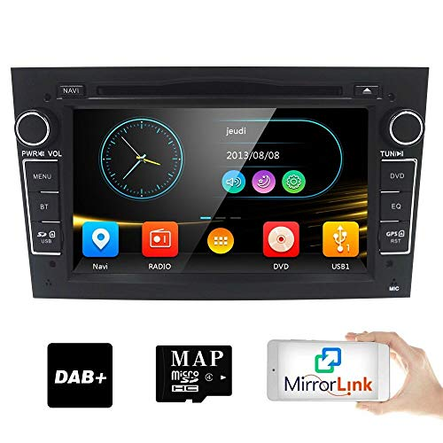 HIZPO 7 inch Car Audio Stereo Double Din In Dash for Opel Vauxhall Corsa  Vectra Astra Support GPS Navigation DVD Player Bluetooth Car Radio USB SD