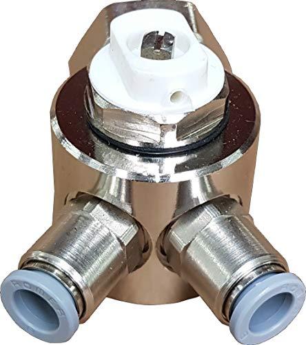 Jollytherm 10110 Aquaheat Verteiler 2-fach für Doppelrohr Warmwasser Fußbodenheizung