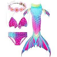 2018 Verano Traje de baño Sirena Chica Dos Piezas Brillante diseño de la Concha de Material cómodo Cosplay Bikini Set de cumpleaños Crown