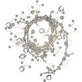 WeRChristmas Perlen Girlande Lichterkette Dekoration mit 20LED, 1,8m–Warm Weiß