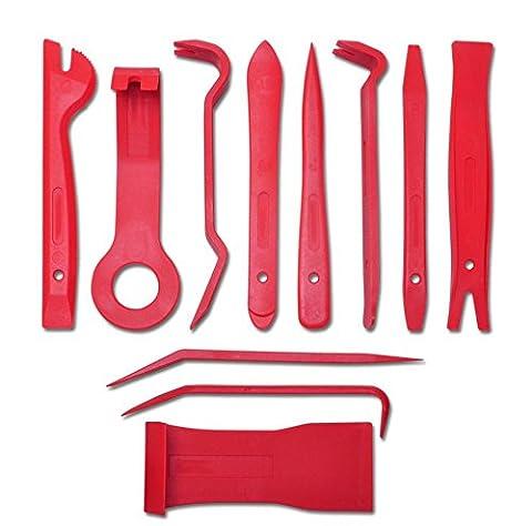 Cusfull 11-teilig Auto Trim Entferner Werkzeuge Set Innenraum Verkleidung Reparatur Kit zum Autoradio Entfernen, Zierleisten, Automotive Türverkleidung