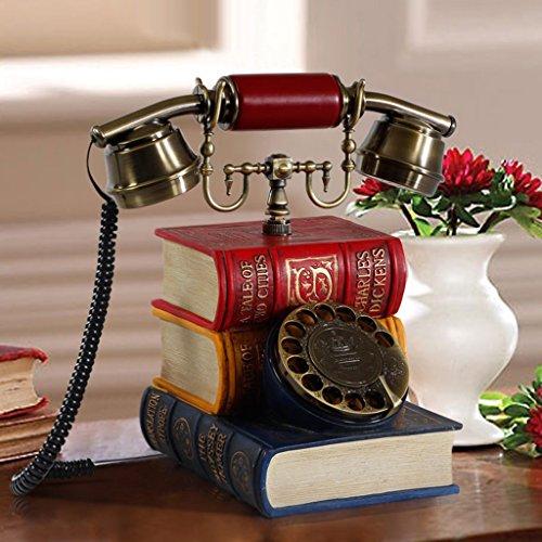 wysm Teléfono antiguo europeo Teléfono retro creativo Teléfono clásico de la máquina de asiento Teléfono fijo
