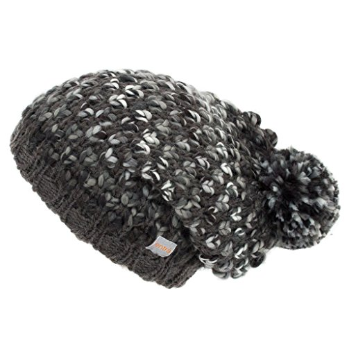 mit Bommel von entrà - Damen Pudelmütze (grau) (Berret Hüte)