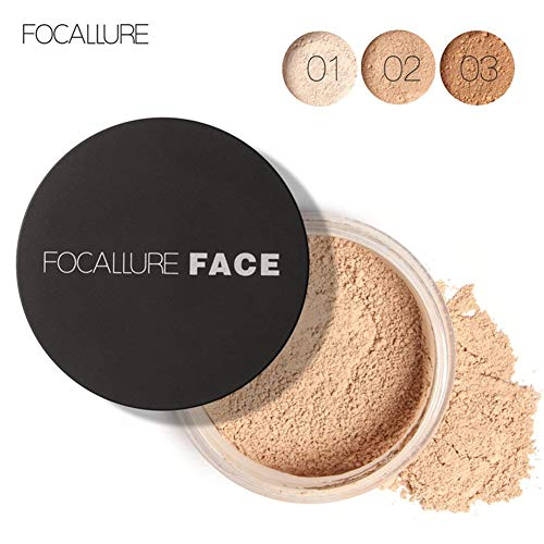 Miji Control 3 Types Focallure New Face Oil Control Anti-Sweat Long-Lasting Makeup Loose Powder Cosmetic (#3) -