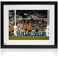 Enmarcado Jonny Wilkinson Firmado Copa del Mundo de Rugby 2003 Foto: The Drop-Kick