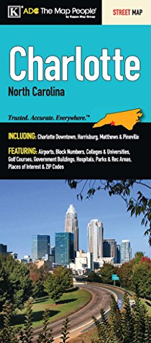Charlotte, NC Fold Map - Karte Nc Charlotte