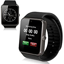 Theoutlettablet® GT08 Reloj inteligente Smart Watch Bluetooth para Teléfono con tarjeta SIM y ranuara para memoria microsd color NEGRO