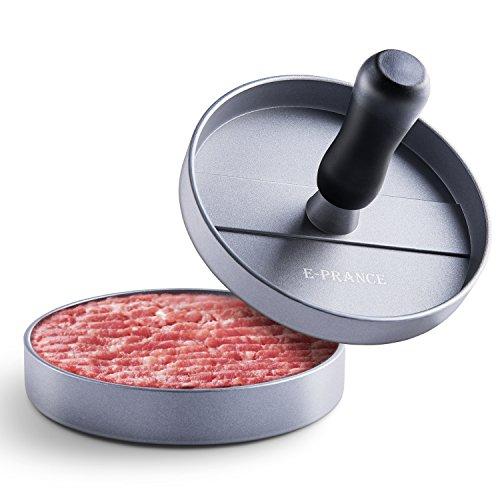 E-PRANCE Hamburgerpresse Burgerpresse Hamburger Maker aus Aluminium mit Antihaftbeschichtung, Ideal für Grill
