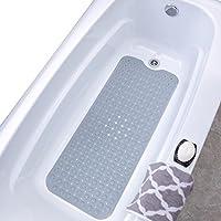 Slip-X Solutions Alfombrilla de baño de vinyl extra larga Gris