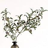 SHUNYUS Simulation Olivenblatt, 72cm Künstliche Simulation Grünpflanzenstrauß Real Touch Green Flower Decoration