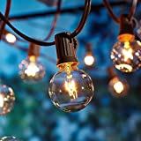 Guirnaldas luminosas de exterior,Luces de cuerda al aire libre, OxyLED G40 25ft Globe Patio Outdoor Garden String Lights, Decorative String Luces de patio, Luces de interior impermeable / Outdoor String, Great Garden Terrace Luces de patio de Navidad