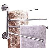 MUYCO Badezimmer-Handtuchhalter Wand-Handtuchhalter Rotierendes Handtuch Edelstahl-Badezimmer-Küchen-Handtuchhalter 4 Stangen-Drehstangen