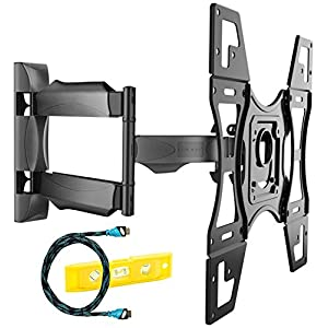 Invision Ultra Slim Tilt Swivel TV Wall Mount Bracket – For Most 26 – 60 Inch LED LCD Plasma & Curved TV Screens – Max VESA 400mm x 400mm – Now Includes 1.8m HDMI Cable (A2)
