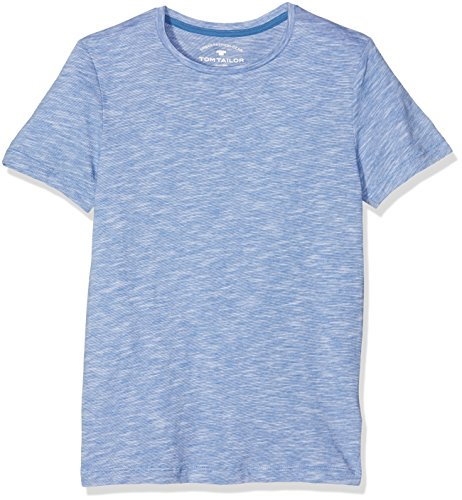 TOM TAILOR KIDS Jungen T-Shirt Basic Feederstripe Tee, Blau (Midsummer Blue 6069), Medium (Herstellergröße: 152)