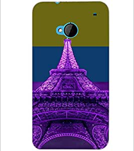 PrintDhaba Tower D-4916 Back Case Cover for HTC ONE M7 (Multi-Coloured)