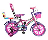 Outdoor® Bikes Splash 14 Inches Bicycle For 3 To 5 Years Kids With Double Seat (Assembly Required) (Pink Purple)