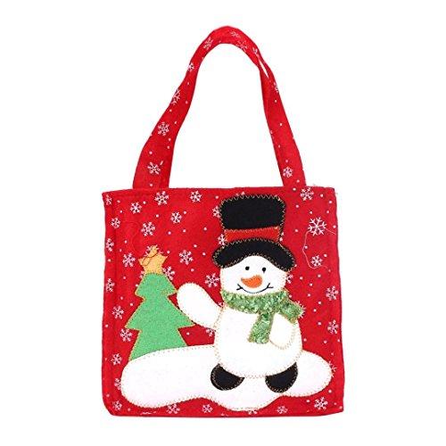 GillBerry 1 PC Niño Chicos Chicas Nuevo papá noel Bolsas de regalo Feliz Navidad Caramelo Bolsas (B)