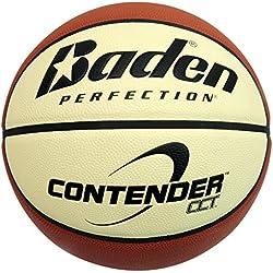 Baden Contender - Pelota de baloncesto (talla 7), color marrón y beige Talla:Size 5