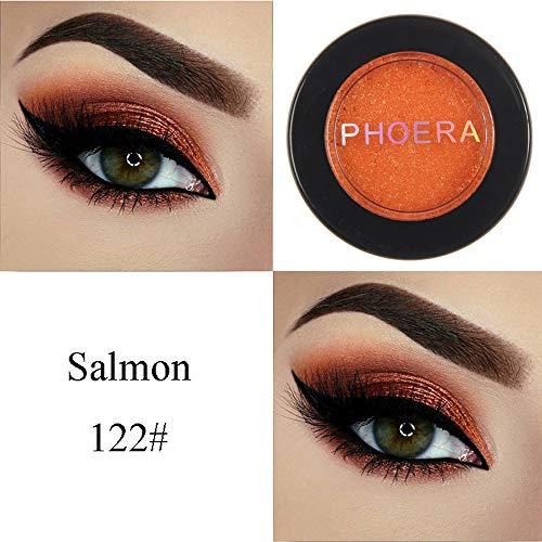 Cwemimifa Lidschatten-Palette Lila,PHOERA Glitter Shimmering Colors Lidschatten Metallic Eye Cosmetic,Schwarz