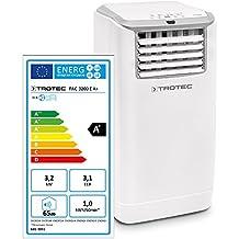 Trotec PAC 3200 E 1210002050 - Climatizzatore Portatile a 11000 Btu, D'Aria Locale Monoblocco da 3,2 Kw, Classe energetica: A+