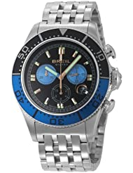 Breil BW0408 - Reloj cronógrafo de caballero de cuarzo con correa de acero inoxidable blanca (cronómetro)