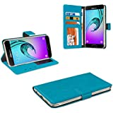 eFabrik Bookstyle Case pour Samsung Galaxy A3 (2016) Housse de protection Smartphone Cover similicuir turquoise